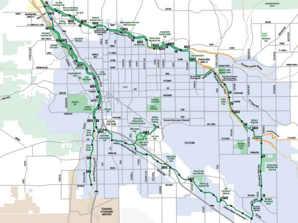Bike Maps Official Website Of The City Of Tucson