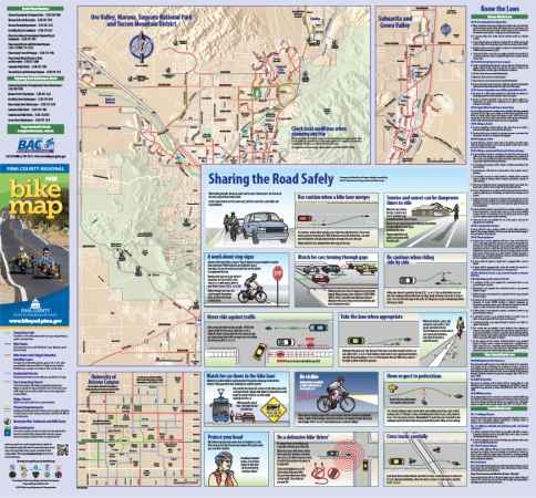 Bike Maps Official Website Of The City Of Tucson - Us bicycle route system map