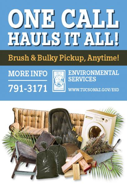 Scrap Metal Pick Up >> Brush and Bulky+ | Official website of the City of Tucson