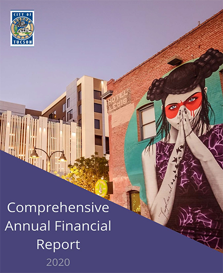 2020 Comprehensive Annual Financial Report (CAFR) Booklet cover with Tucson art mural