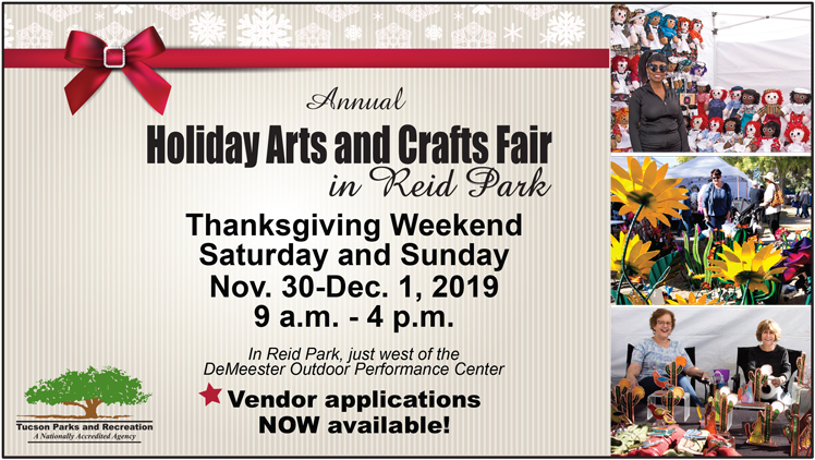 Tucson Parks And Rec Summer 2020.Annual Holiday Arts And Crafts Fair Call For Vendors