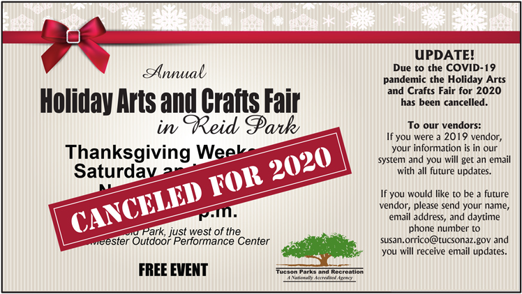 Christmas Events In Tucson 2020 Annual Holiday Arts and Crafts Fair | Official website of the City