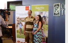 Christopher and Evelyn Evers, first-time homebuyers who are applying for the program.