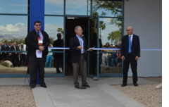 Celebrating the expansion of Modular Mining's Tucson corporate headquarters with Council Member Richard Fimbres