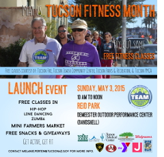 Tucson Fitness Month Launch Event Flyer