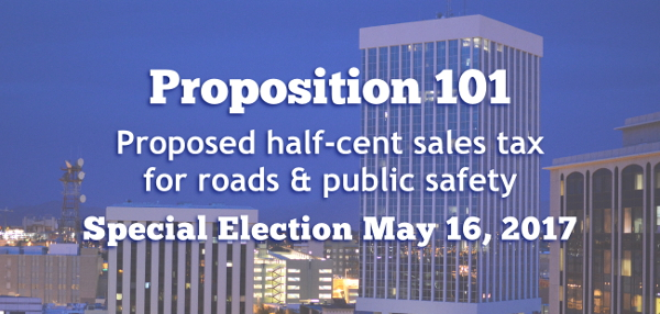 Proposition 101, Proposed half-cent sales tax for roads & public safety, Special Election May 16, 2017