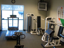 exercise equipment/weight room