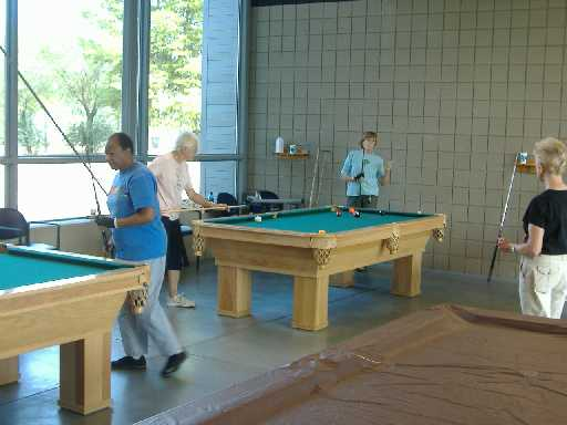 seniors playing billiards