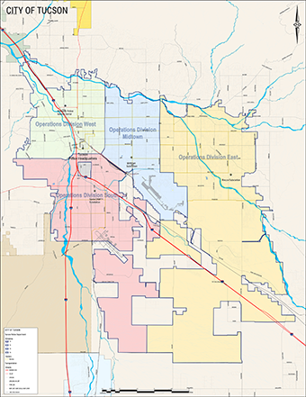 Map Of Tucson Arizona Zip Codes.Contact Us Official Website Of The City Of Tucson
