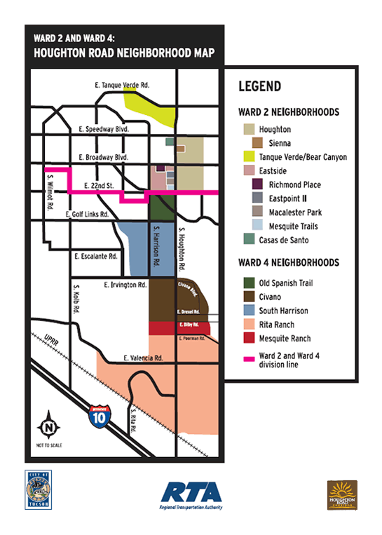 Houghton Road Neighborhood Map