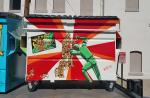Dumpster with mural
