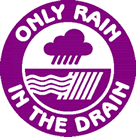 'Only Rain In The Drain' logo