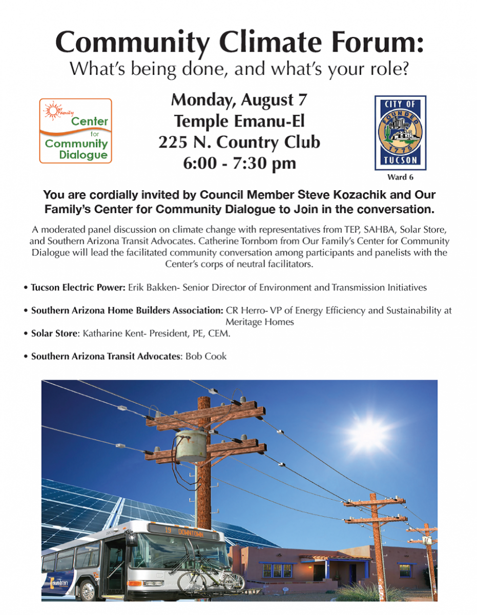 We'll have the electric industry, homebuilding industry, solar industry and  transit all represented on the panel. As we had during the other two forums  ...