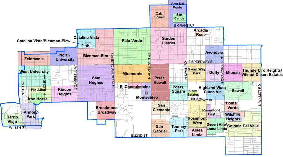 Map Of Tucson Arizona Zip Codes.Council Member Steve Kozachik Official Website Of The City Of Tucson