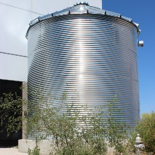 Picture of a water harvesting barrel.