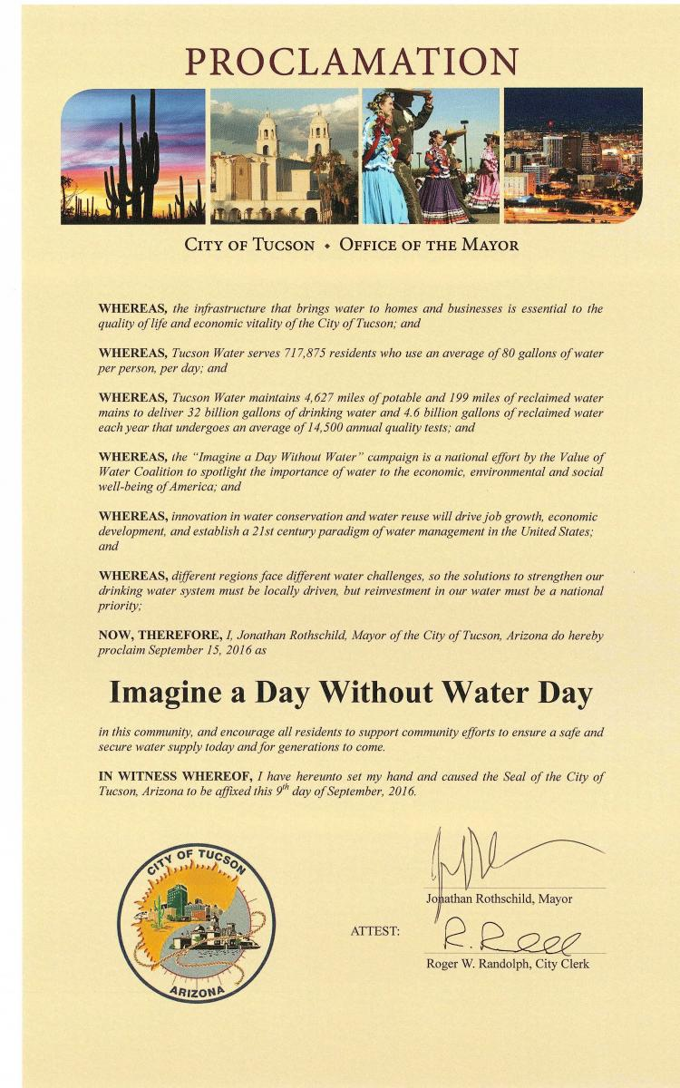 a day without water That statement was taken from the value of water: imagine a day without water campaign website here in the north central region water network, that last sentence rings especially poignantly after all, what is agriculture and farming without water although seemingly a simple question, the possibility.