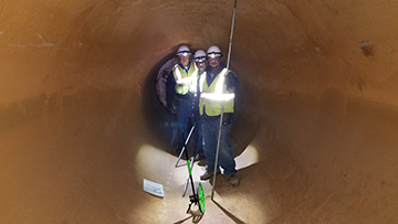 "96"" pipe inspection team / Tucson Water"